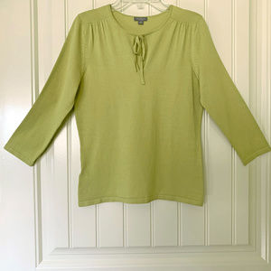 Ann Taylor Knit Top Chartreuse - Size SP